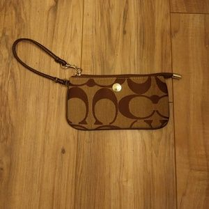 Coach Wristlet.  Small with Large Logo Print